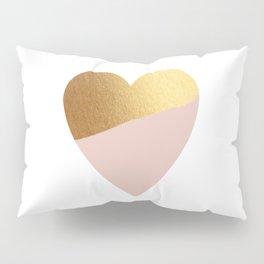 Heart of Gold (and Millennial Pink) Pillow Sham