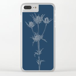 Milk Thistle Blueprint Clear iPhone Case