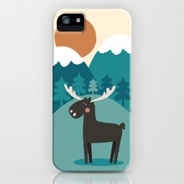 Moose In The Mountains iPhone Case