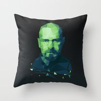 walter white Throw Pillows featuring Walter White by Dr.Söd
