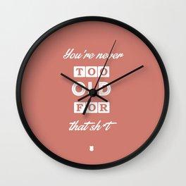 80's Movie Motivation: Murtaugh Wall Clock