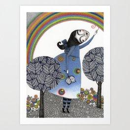 Rainbow Mine (3) Art Print