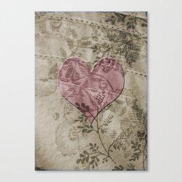 Coeur en tissu Canvas Print