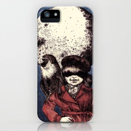 Posing on the moon iPhone Case