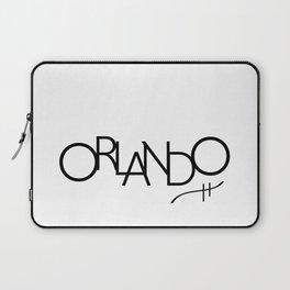 Orlando - Compressed City Beautiful - Word Art Laptop Sleeve