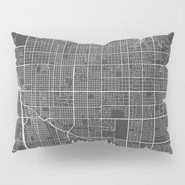 Tucson Map, Arizona USA - Charcoal Portrait Pillow Sham