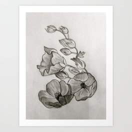 flowers for grey matter Art Print