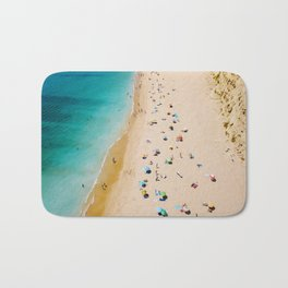 People On Algarve Beach In Portugal, Drone Photography, Aerial Photo, Ocean Wall Art Print Bath Mat