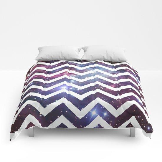 Nebula Chevron Comforters