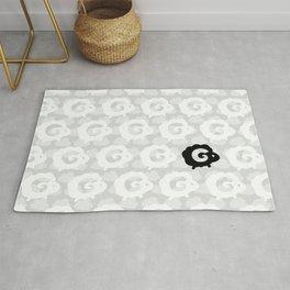 Black Sheep Pattern Rug