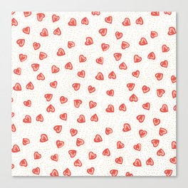 Sparkly hearts Canvas Print