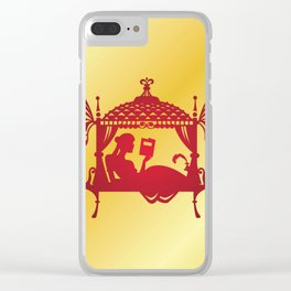 Bridal Palanquin India.doli silhouette Clear iPhone Case