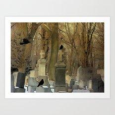 Gothic Splash Art Print
