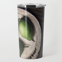 Three Pears in a Metal Plate Travel Mug
