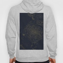 Mt. Shasta, California Topographic Contour Map Hoody