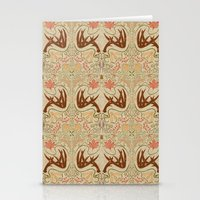 wisconsin Stationery Cards featuring Wisconsin Pattern by Kayla Catherine Illustration