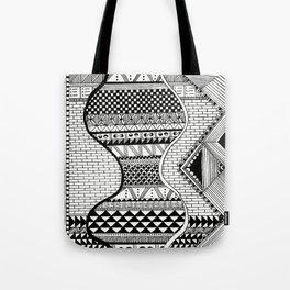 Wavy Geometric Patterns Tote Bag