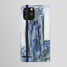 Gray Philadelphia Skyline iPhone Wallet Case