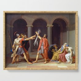 Oath of the Horatii by Jacques-Louis David Serving Tray