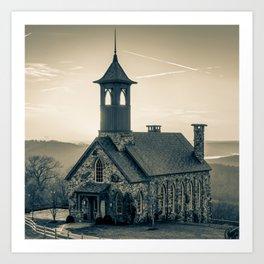 Chapel of the Ozarks - Ridgedale Missouri 1x1 Sepia Art Print