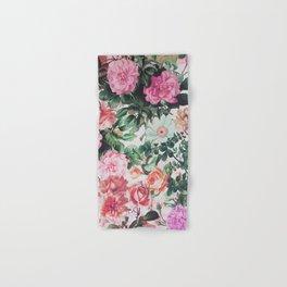 Vintage green pink lavender country floral Hand & Bath Towel