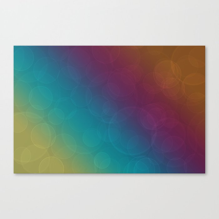Bohek Bubbles on Rainbow of Color - Ombre multi Colored Spheres Canvas Print