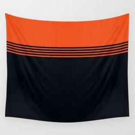 70s Orange Retro Striped Pattern Wall Tapestry