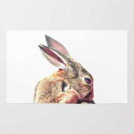 Rabbit Portrait Rug