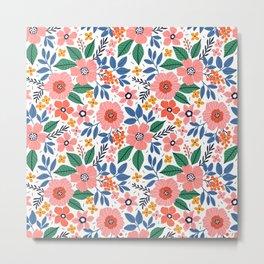 Floral pattern.  Metal Print