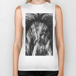 Abstract Black and White 3 Biker Tank
