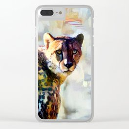 Your Cheetah Eyes Clear iPhone Case