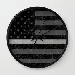 Thin Silver Line Wall Clock