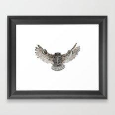 Inked flight Framed Art Print