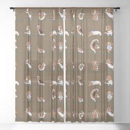 Beagle Yoga Sheer Curtain