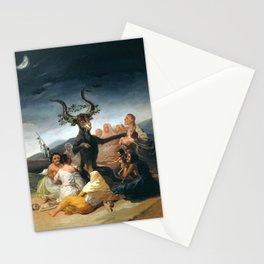 The Sabbath of witches by Francisco Goya, 1798 Stationery Cards