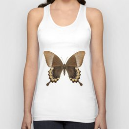 Brown and Gold Swallowtail Butterfly Unisex Tank Top