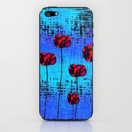 Street Art Pop Poppies iPhone Skin