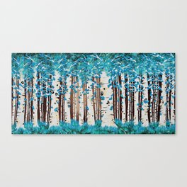 Turquoise Forest Canvas Print