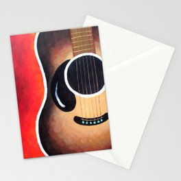 Smiling Guitar Stationery Cards