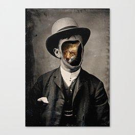 Gentleman Fox Canvas Print