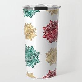 Holiday star pattern Travel Mug