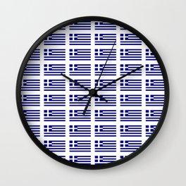 Flag of greece -Greek, Ελλάδα,hellas,hellenic, athens,sparte,aristotle. Wall Clock