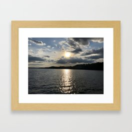 Afternoon on the Lake Framed Art Print