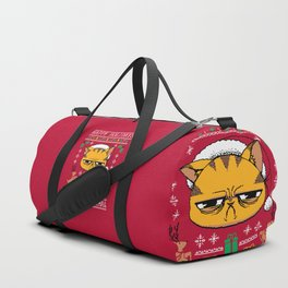 Ugly Holiday Sweater Cat Duffle Bag