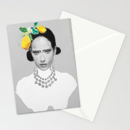 Dame with the lemons  Stationery Cards