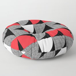 Textured Mid-century Circles No.6 Floor Pillow