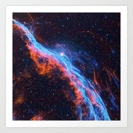 Nebula and stars Art Print