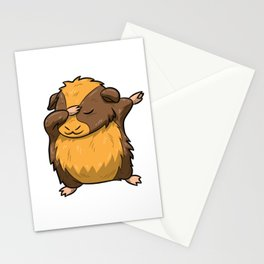 Dabbing Guinea Pig Shirt Hamster Cavy Dab Pet Gift Stationery Cards