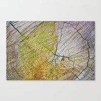 tree rings Canvas Prints featuring Tree rings by Nuria Talavera