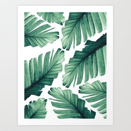 Tropical Banana Leaves Dream #3 #foliage #decor #art #society6 Art Print